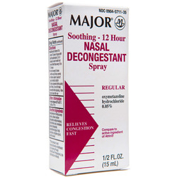 Major Pharmaceuticals- Nasal Decongestant .05% 12 Hr, 15ml Spray
