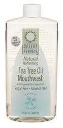 Desert Essence- Natural Refreshing Tea Tree Oil Mouthwash, Alcohol Free, Spearmint, 16oz