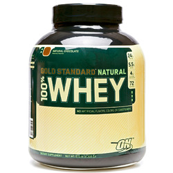 Optimum Nutrition- Natural 100% Whey Protein, Natural Chocolate, 5lbs