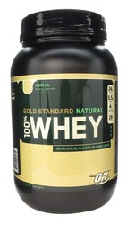 Optimum Nutrition- Natural 100% Whey Protein, Vanilla, 2lbs