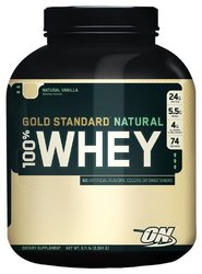Optimum Nutrition- Natural 100% Whey Protein, Vanilla, 5lbs