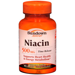 Sundown Naturals- Niacin, 500mg Time Release, 200 caplets