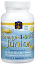 Omega-3-6-9 Junior, 500mg, Lemon, 90 Chewable Softgels