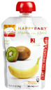 Organic Baby Food, Stage 2, 6+ Months, Banana & Kiwi, 3.5oz