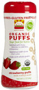 Organic Puffs, Finger Food for Babies, Strawberry Puffs, 2.1oz