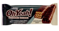 ISS Research - Oh Yeah! High Protein Bar, Chocolate Mint Wafer (8 pack)