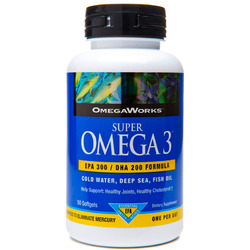 OmegaWorks- Omega 3, Super, 50 Softgels