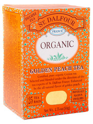 St. Dalfour- Organic Black Tea, Golden Peach, 25 bags