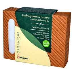 Himalaya Herbal Healthcare- Organique, Purifying Neem & Turmeric Handcrafted Cleansing Bar, 4.41oz