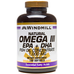Windmill- Omega 3 EPA & DHA Fishoil, 1000mg, 180 Softgels