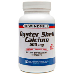 Windmill- Oyster Shell, 500mg, 150 Tablets