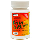 Pain and Fever Acetaminophen, Extra Strength, 500mg, 100 Tablets