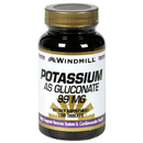 Potassium as Gluconate, 99mg, 100 Tablets