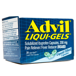Advil- Pain Reliever. 20 liquigels