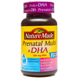 Nature Made- Prenatal Multi + DHA, 60 Softgels