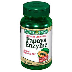 Nature's Bounty- Papaya Enzyme Chewable, 100 tablets