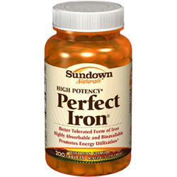 Sundown Naturals- Perfect Iron (as Carbonyl Iron), 200 tablets