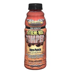 Worldwide Sport Nutrition- Extreme NOS Pumped, Nitro-Punch, 20oz (12 pack)