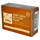 Raw Shea Butter Soap, Soy Milk, Frankincense & Myrrh, 5oz, 141 grams