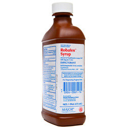 Major Pharmaceuticals- Robafen Syrup 100mg/5ml, 16floz Liquid