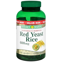 Nature's Bounty- Red Yeast Rice, 600mg, 250 capsules