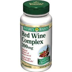 Nature's Bounty- Resveratrol Red Wine Extract, 200mg, 60 capsules