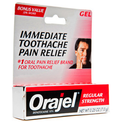 Orajel- Regular Strength Oral Pain Relief, .19oz