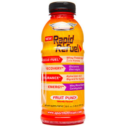 Worldwide Sport Nutrition- Rapid Refuel, Fruit Punch, 20oz (12 pack)