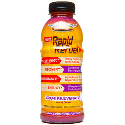 Worldwide Sport Nutrition- Rapid Refuel, Grape Rejuvenation, 20oz (12 pack)