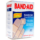 Sheer Adhesive Bandages, Assorted Sizes (40 count)