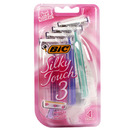 Silky Touch 3, Advanced Disposable Razor for Women (4 pack)