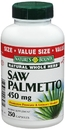 Saw Pametto, 450mg, 250 capsules (400cc bottle)