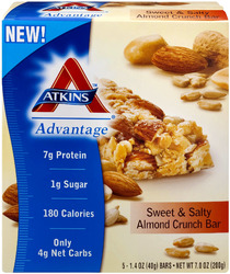 Atkins Advantage- Sweet & Salty Almond Crunch Bars (5 pack)