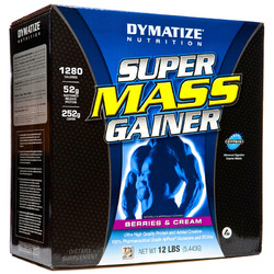 Dymatize- Super Mass Gainer,  Berry, 12lbs