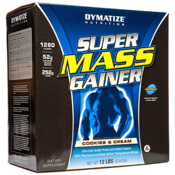 Dymatize- Super Mass Gainer, Cookies & Cream, 12lbs