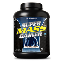 Dymatize- Super Mass Gainer, Cookies & Cream, 6lbs