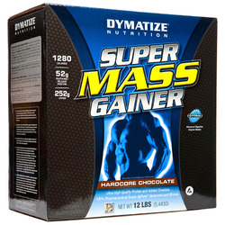 Dymatize- Super Mass Gainer, Hardcore Chocolate, 12lbs