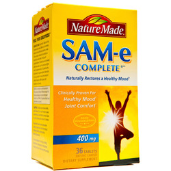 Nature Made- Sam-E 400mg Complete DS Value, 36 Tablets