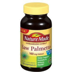Nature Made- Saw Palmetto 160mg, 50 Tablets