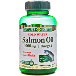 Nature's Bounty- Salmon Oil, 1000mg, 120 softgels