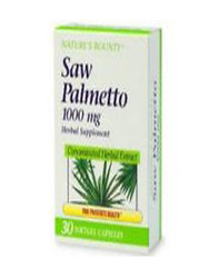 Nature's Bounty- Saw Palmetto Extract, 1000mg, 30 softgels