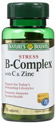 Nature's Bounty- Stress, Vitamin B-Complex with C and Zinc, 75 tablets