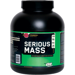 Optimum Nutrition- Serious Mass, Strawberry, 6lbs