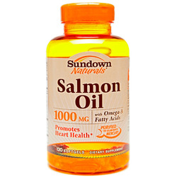 Sundown Naturals- Salmon Oil, 1000mg, 120 softgels