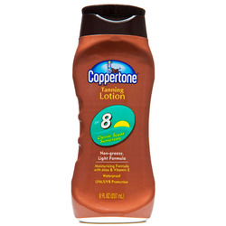 Coppertone- Tanning Lotion, SPF 8, 8oz