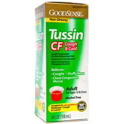 Good Sense- Tussin PE CF -New Formula, 4floz Liquid