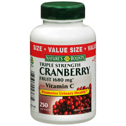 Nature's Bounty- Triple Strength Cranberry with Vitamins C, 250 softgels