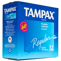 Tampax- Tampons Variety Pack, Regular & Super Absorbency (32 pack)
