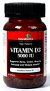 Vitamin D3-5000 IU, 90 softgels