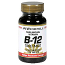 Vitamin B-12, 1000mcg Sublingual, 100 Tablets